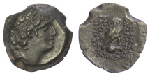 Ancient Coins - SELEUKID KINGS of SYRIA, Cleopatra Thea & Antiochos VIII. AE denomination B, 122-121 BC