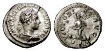 Ancient Coins - ELAGABALUS. AR denarius, Rome mint. Struck 218-222 AD. Victory