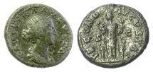 Ancient Coins - Faustina Junior, Augusta. AE as. Rome mint. Struck under Marcus Aurelius, circa AD 161-164