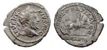 Ancient Coins - SEPTIMIUS SEVERUS. Fourée denarius. Dea Caelestis riding lion