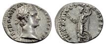 Ancient Coins - DOMITIAN. AR denarius, Rome mint, struck 91 AD. Minerva