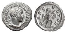 Ancient Coins - SEVERUS ALEXANDER. AR denarius, Struck 231-235 AD. Mars Vltor