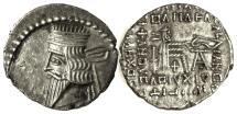 Ancient Coins - KINGS of PARTHIA, VOLOGASES III. AR Drachm. Ekbatana mint