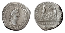 Ancient Coins - AUGUSTUS. AR denarius, Lugdunum, struck 2 BC-12 AD. Caius and Lucius
