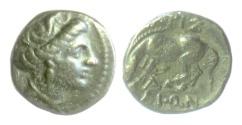 Ancient Coins - THESSALY, Larissa. AE Chalkous, circa 380-337 BC