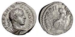 Ancient Coins - Elagabalus. AR denarius, Rome mint, struck 219 AD. Fortuna