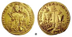 Ancient Coins - BYZANTINE, CONSTANTINE VII with ROMANUS I and CHRISTOPHER. AV solidus, Constantinople, 921-931 AD