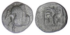 Ancient Coins - TROAS,  Skepsis. AE 11, 4th-3rd centuries BC.  Pegasos / Fir tree