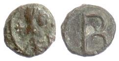 Ancient Coins - BYZANTINE, Justinian I. AE 2 nummi, Carthage mint. Struck 533-562. Scarce