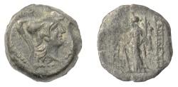 Ancient Coins - SELEUKID KINGS, Alexander II Zabinas. AE denom C, Antioch, 128-122 BC. Tyche. RARE
