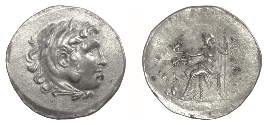 Ancient Coins - Alexander III 'the Great' AR tetradrachm, Temnos mint. Civic issue, struck circa 188-170 BC