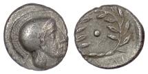 Ancient Coins - AEOLIS, Elaia. AR diobol, circa 450-400 BC