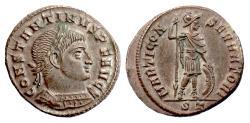 Ancient Coins - Constantine I. AE follis, Ticinum mint, struck 312-313 AD. Mars