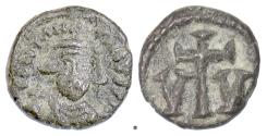 Ancient Coins - Byzantine, CONSTANS II. AE 10 nummi, Carthage mint, struck 643-647