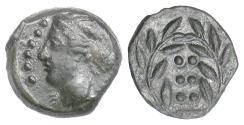 Ancient Coins - SICILY, Himera. AE hemilitron, circa 415-409 BC