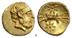 Ancient Coins - Kyrenaika, Kyrene, Magas as governor.  AV obol, struck circa 308-305 BC. Zeus / Thunderbolt