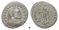 Ancient Coins - SEVERUS II. AE follis, Lugdunum mint, 305-306 AD. Genius