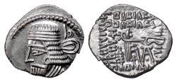Ancient Coins - PARTHIA, Vologases I. AR drachm, Ekbatana mint, circa 58-77 AD
