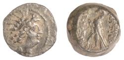 Ancient Coins - SELEUKID KINGS, Antiochos VIII. AE denomination B, Antioch mint, 121/0 BC. Eagle