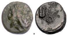 Ancient Coins - IONIA, Achaemenid Period, Autophradates. AE chalkous, circa 380s-350s BC. RARE