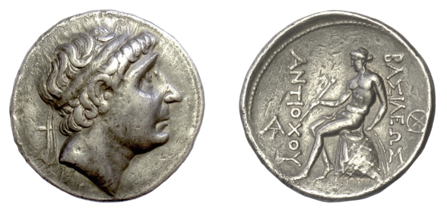 Ancient Coins - SELEUKID KINGS, Antiochos I Soter. AR Tetradrachm, Seleukeia on the Tigris mint, 281-261 BC
