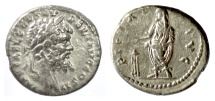 Ancient Coins - Septimius Severus. AR Denarius. Emesa mint. Struck AD 194/5
