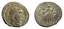 Ancient Coins - GALERIUS. AE follis, Alexandria mint. Struck 308-310 AD. Genius