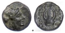 Ancient Coins - IONIA, Smyrna. AE, circa 190-75 BC. Apollo / Lyre. Published coin