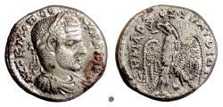 Ancient Coins - MACRINUS, Laodicea ad Mare.  AR Tetradrachm, 217-218 AD.  Eagle