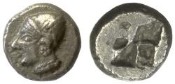 Ancient Coins - IONIA, Phokaia. AR Diobol, circa 521-478 BC