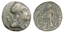 Ancient Coins - SELEUKID, Seleukos II Kallinikos. AE denom B, ΔΕΛ mint, 246-225 BC. Athena / Nike. Rare