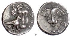 Ancient Coins - CARIA, MYLASA (imitating Rhodes). AR Drachm, circa 170-130 BC