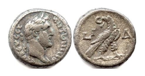 Ancient Coins - ANTONINUS PIUS. Roman EGYPT. Alexandria. AR tetradrachm. Dated RY 14 (150/151 AD)