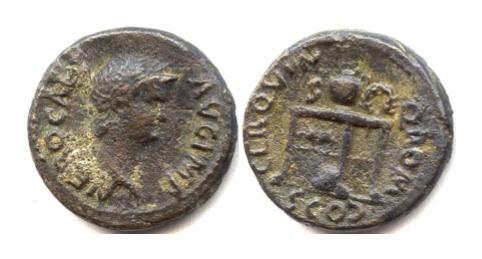 Ancient Coins - Nero. AE semis. Rome mint, struck circa AD 64