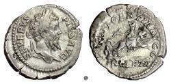 Ancient Coins - SEPTIMIUS SEVERUS.  AR Denarius, Rome mint, 203 AD.  Dea Caelestis
