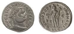 Ancient Coins - Diocletian. AE follis, Alexandria mint. Struck circa AD 301. Genius