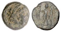 Ancient Coins - SELEUKID, Alexander II Zabinas. AE denom B, Antioch, circa 125-122 BC