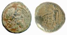 Ancient Coins - SELEUKID, Demetrius II, second reign. AE denom B, Damaskos, 129/8 BC. Scarce to Rare