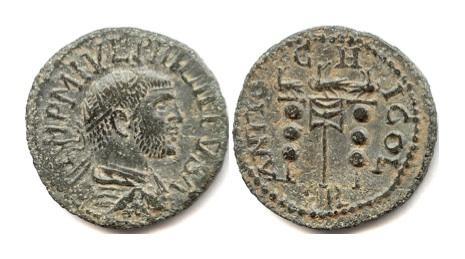 Ancient Coins - PISIDIA, Antiochia. PHILIP I. AE 25