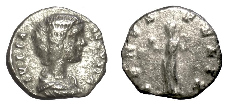 Ancient Coins - JULIA DOMNA. AR denarius, Rome Mint circa 198-200 AD. Venus