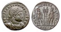 Ancient Coins - Constantine II, as Caesar. AE follis, Antioch mint, 330-335 AD