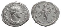 Ancient Coins - SEVERUS ALEXANDER. AR denarius, Rome, 231-235 AD. Mars