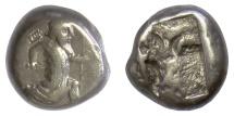Ancient Coins - PERSIA, Achaemenid Empire, Xerxes II to Artaxerxes II. AR Siglos, circa 420-375 BC