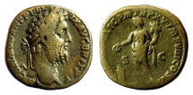 Ancient Coins - Commodus. AE Sestertius. Rome mint. Struck AD 190. Genius
