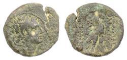 Ancient Coins - SELEUKID, Antiochus IV. AE denom B, Antioch mint, struck 169-168 BC. Eagle. Rare