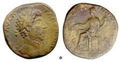 Ancient Coins - LUCIUS VERUS.  AE sestertius, Rome mint, 168 AD. Aequitas