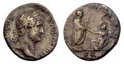 Ancient Coins - Hadrian. AE as, Rome mint. Struck circa 134-138 AD