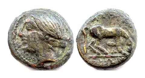 Ancient Coins - THESSALY. Larissa. Circa 370-360 BC. AE chalkous