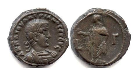 Ancient Coins - ROMAN EGYPT/Alexandria. Valerian I. BI tetradrachm. Dated RY 3 (AD 255/6)