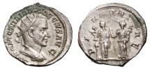 Ancient Coins - TRAJAN DECIUS AR Antoninianus. EF+/EF. PANNONIAE. Excellent coin.